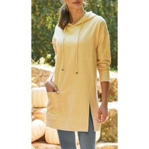 Soft Surroundings Yellow Soho Hooded Sweater